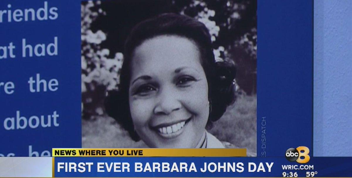 #Virginia marks 1st Barbara Johns Day honoring civil rights pioneer https://t.co/Vk0WL5bhpF