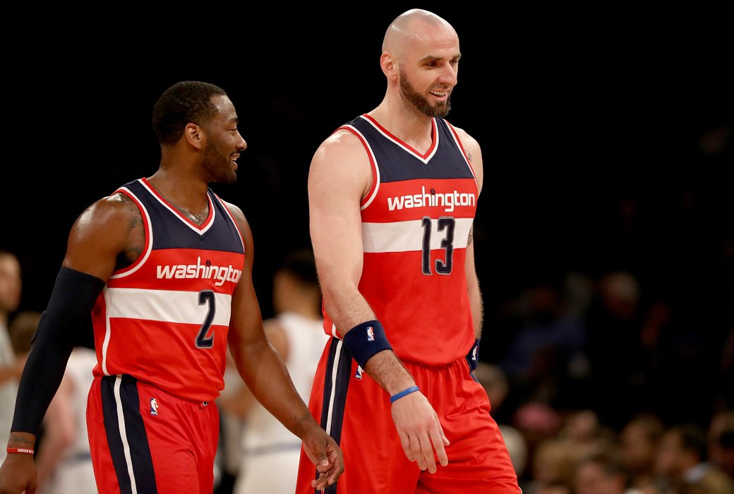 Marcin Gortat on John Wall: If he plays the right way, he is the best point guard in the league. slam.ly/marcin-wall