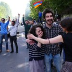 Incredible news from #Armenia today! After 11 days of #peacefulprotest against the appointment of Serzh Sargsyan—the country's authoritarian leader of 10 years—to the office of Prime Minister, he has resigned.