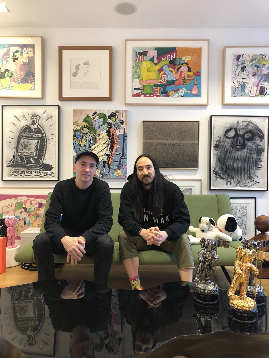Visited #kaws in his studio just kaws