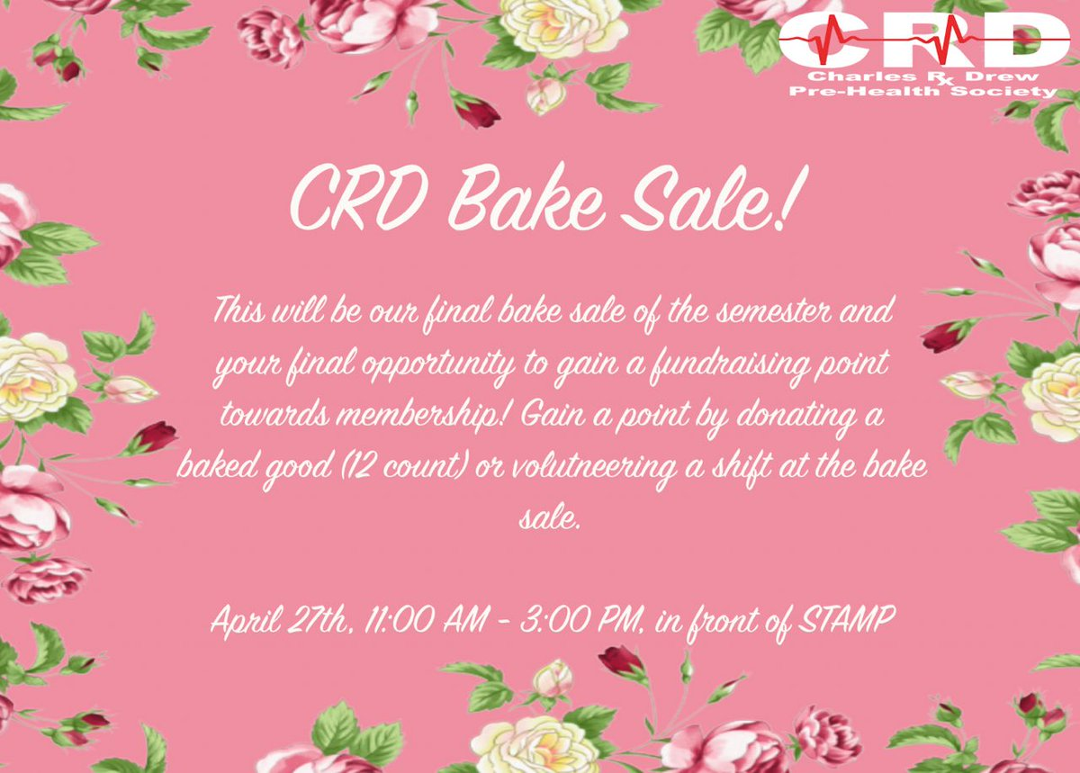 Umd crd on twitter for our current members trying to get that last umd crd on twitter for our current members trying to get that last fundraising point before induction our final fundraising event is on april 27th m4hsunfo