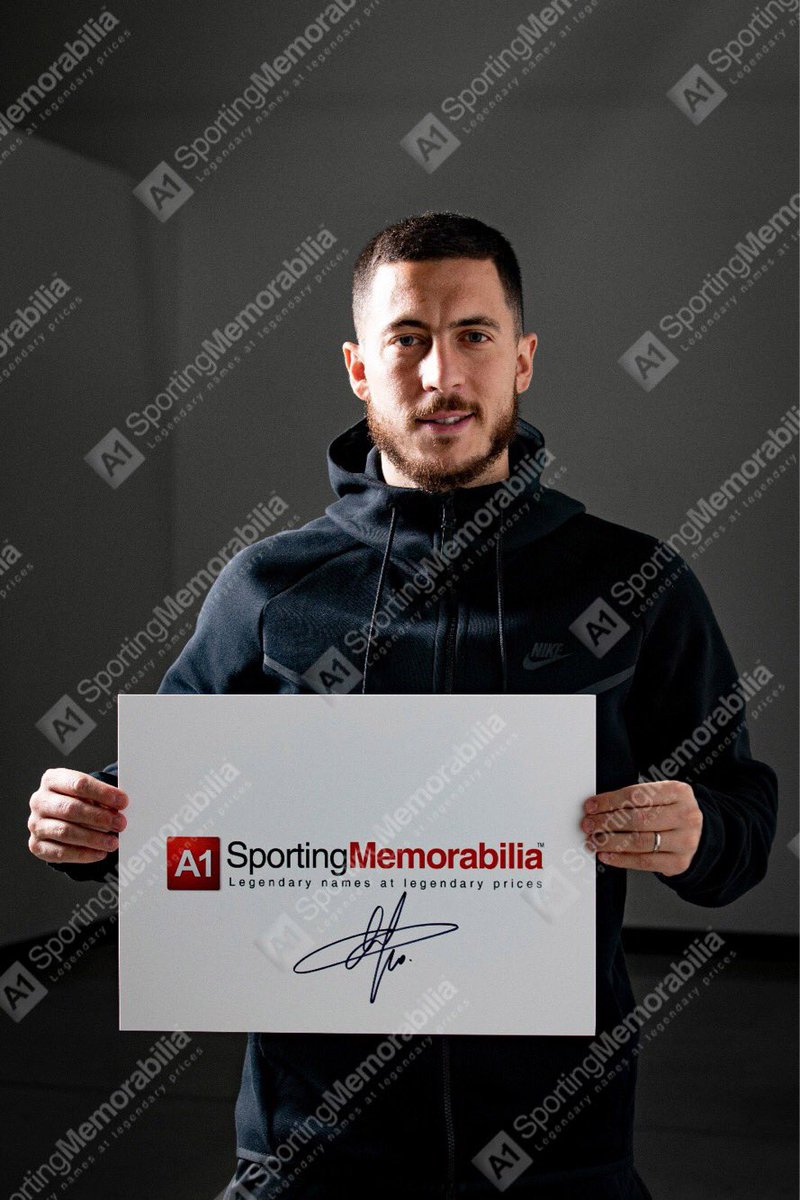 9294c0d6f Eden Hazard signs for A1 Sporting Memorabilia! Keep a lookout on our  website for new products signed by the man himself.