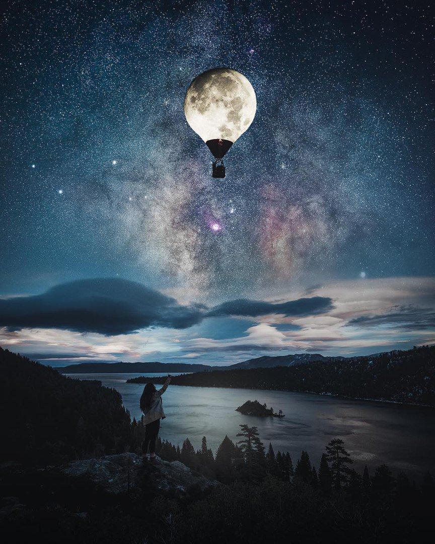 Картинки необычная луна