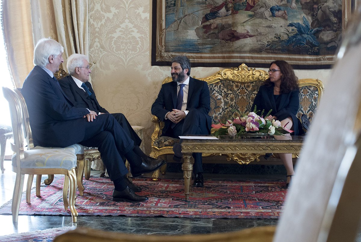 #Quirinale: il Presidente #Mattarella riceve il Presidente della #Camera dei deputati Roberto #Fico