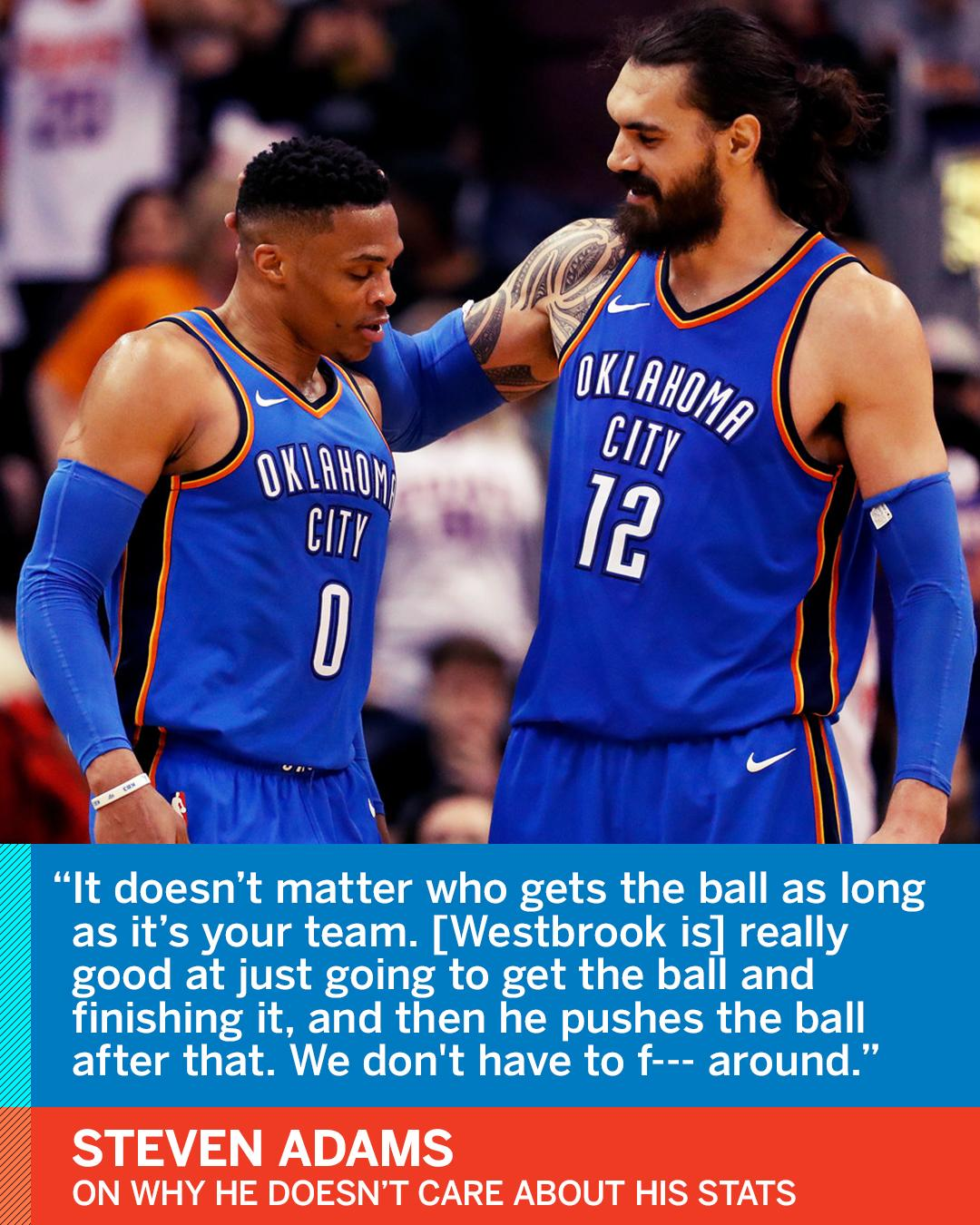 The only stat Steven Adams cares about?  Wins. https://t.co/ZqfbsqnCgG https://t.co/8f4aAI8SlV
