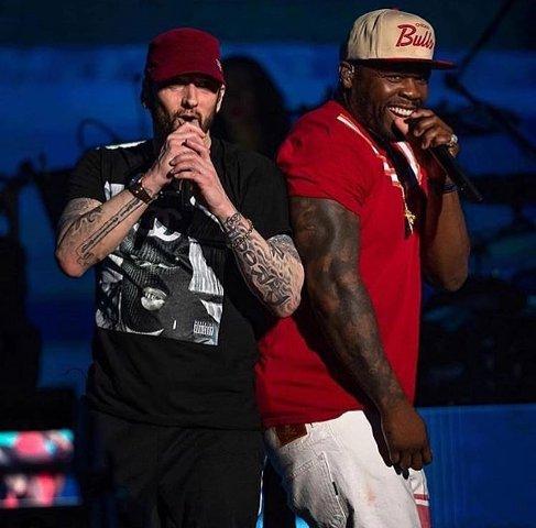 Had a great time at #Coachella  with my brother @Eminem #Lecheminduroi #GUnit https://t.co/KJ0Ot6kK14