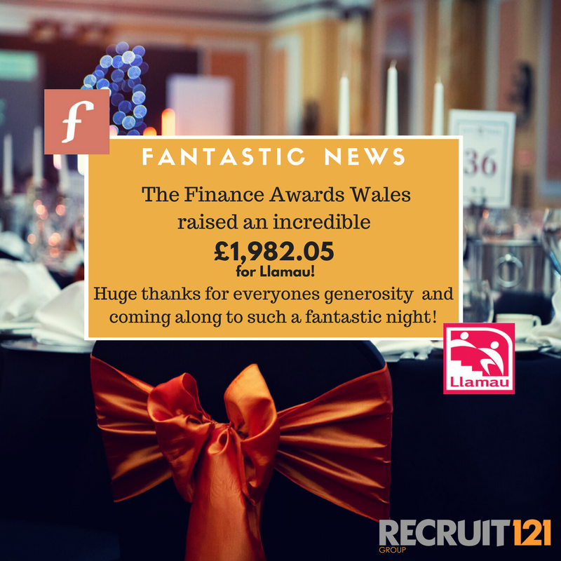 A huge thank you to everyone who donated at the @finawardswales on Friday. Your support will make a huge difference to homeless young people and vulnerable women in Wales. Thank you also to our partner @recruit121 for your continued support!