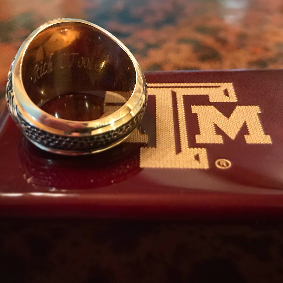 When I graduated from Texas A&M I only had enough money to buy a guitar. I really wanted my Aggie ring but I just couldn't afford it. It broke my heart but it had to be done for the future of my music career. Well... 12 years later I finally got my Aggie Ring. Follow your dreams.