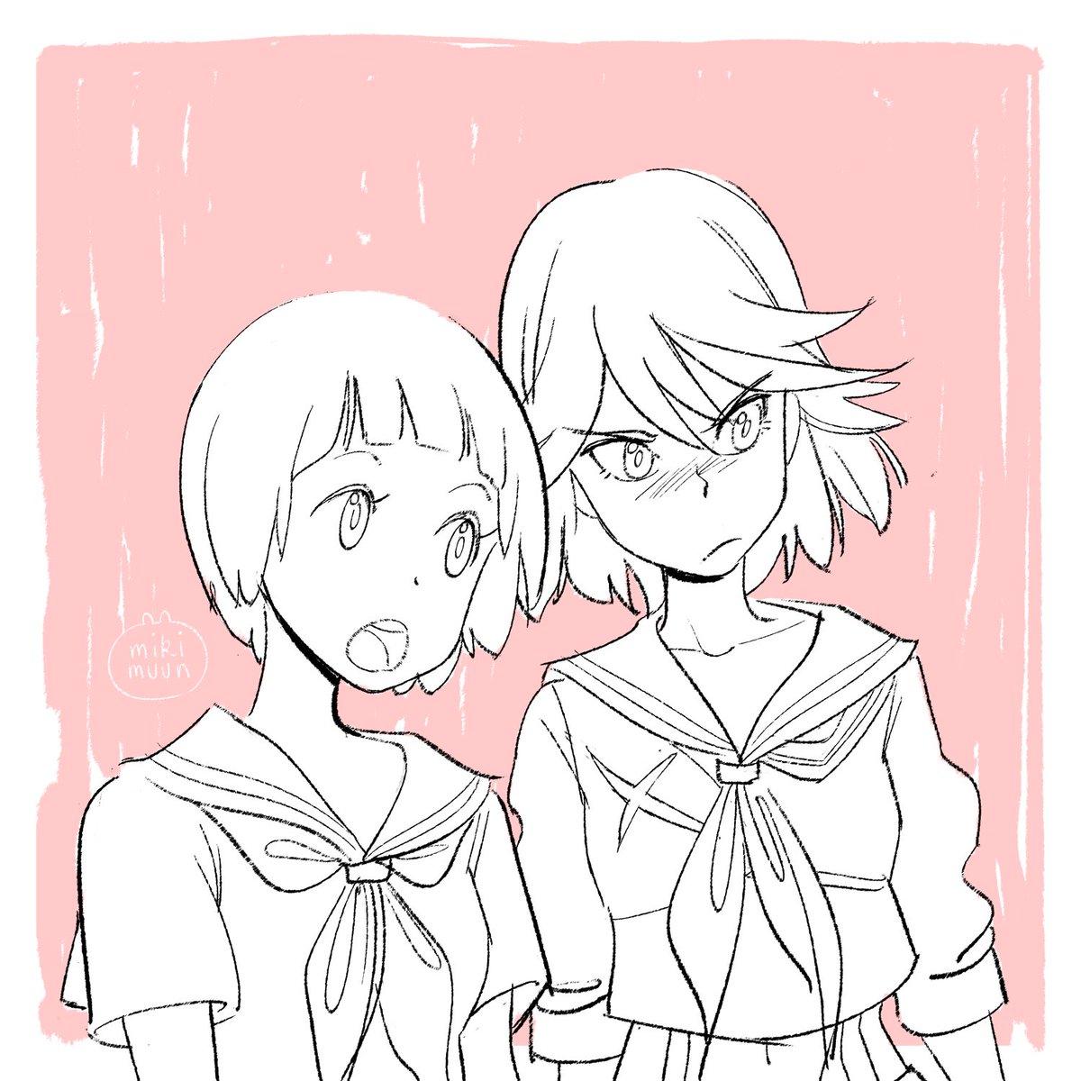 Miki Muun On Twitter Ryuko And Mako Killlakill Fanart