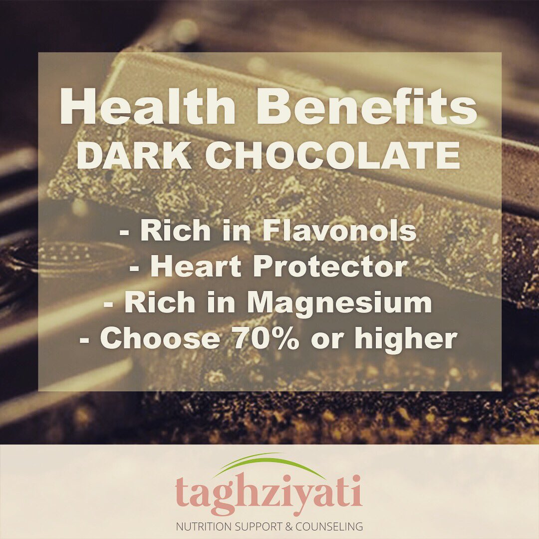 •Health Benefits - Dark Chocolate•  #darkchocolatelover #darkchocolate #dietstartsmonday #dietingmadeeasy #chocolatediet #nutritiontips #nutritionlover #healthbenefits #healthyfood #healthylifestyle #nutritionmatters #nutritionmadeeasy #livelovechocolate #darkchocolateaddict