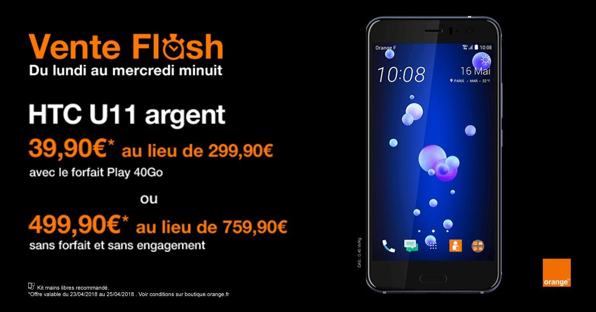 Les beaux jours arrivent ☀, les belles promos aussi ! 🤗 Le HTC U11 est à partir de 39,90€ chez Orange 🔥 https://t.co/K0WuP4DI2Z https://t.co/6rxhoP6KjH