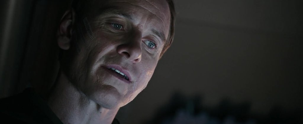 """""""If you only found out (it was David) when he was tucking her in (Daniels), you have not enjoyed the possibility that something is wrong"""" - #RidleyScott  #AlienCovenant #MichaelFassbender  #scifimovies #horromovies #Alien #Xenomorph #scifi #KatherineWaterston<br>http://pic.twitter.com/lmweLfHOal"""
