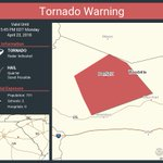 Image for the Tweet beginning: Tornado Warning continues for Woodville