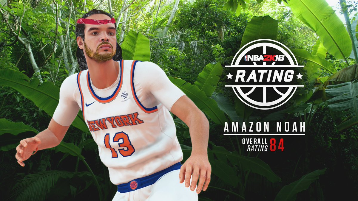 Amazon @JoakimNoah gets an 84 'Jah Bless...