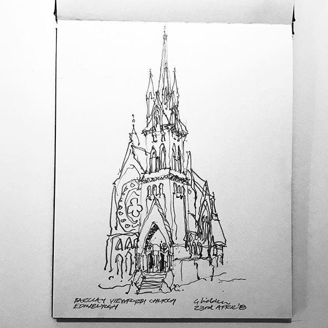 35th Of 52 The Very Pointy Amazing Gothic Barclay Church In Bruntsfield Edinburgh Barclaychurch Architecture 4bpencil Sketch