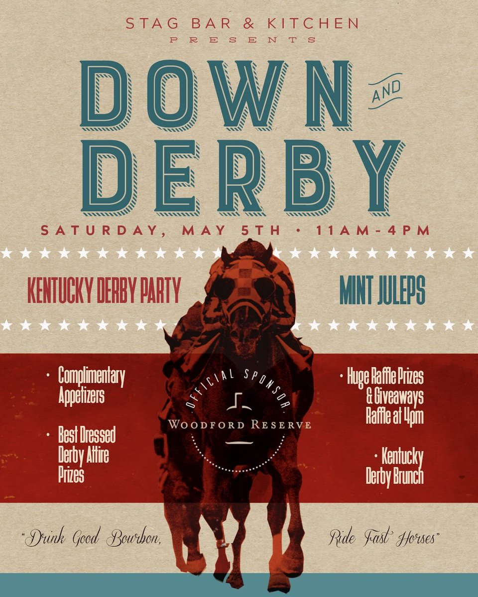 Stag Bar on Twitter Lets get down and derby Next Saturday