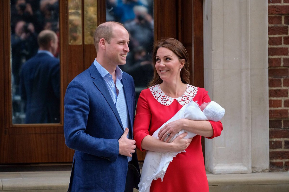 The Duke and Duchess of Cambridge leave St Mary's Hospital with their new arrival, a baby boy. Their Royal Highnesses have thanked all staff at the hospital for the care and treatment they have received, and thanked members of the public for their warm wishes.