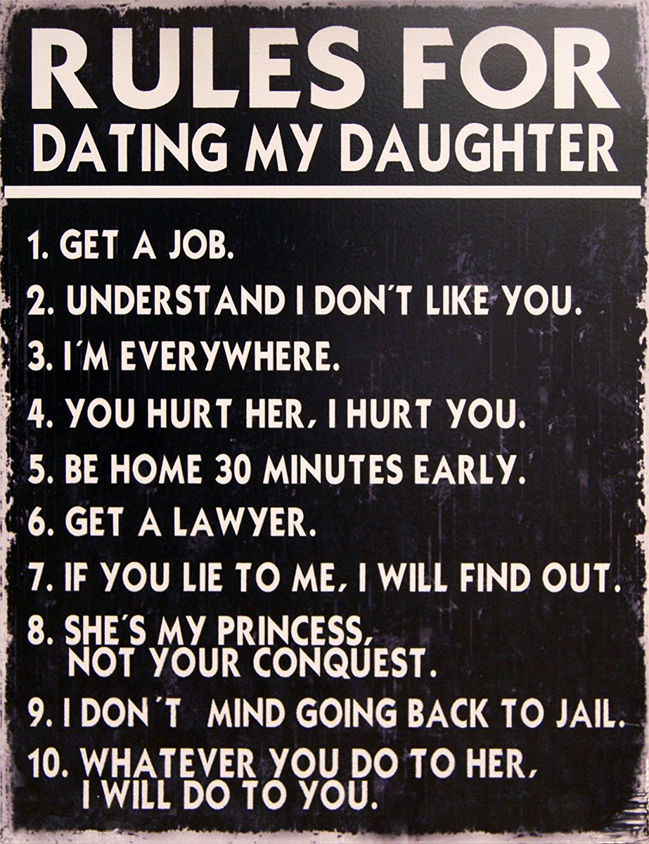 rules for dating my daughter joke when the guy you love starts dating someone else