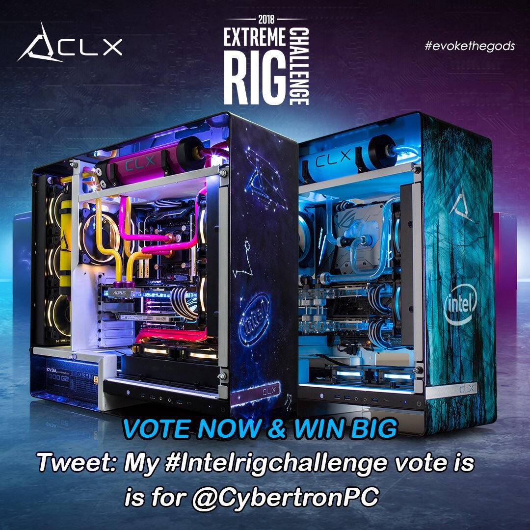 Retweet this for a chance to win $10,000 Gaming Rig. @CybertronPC #IntelRigChallenge