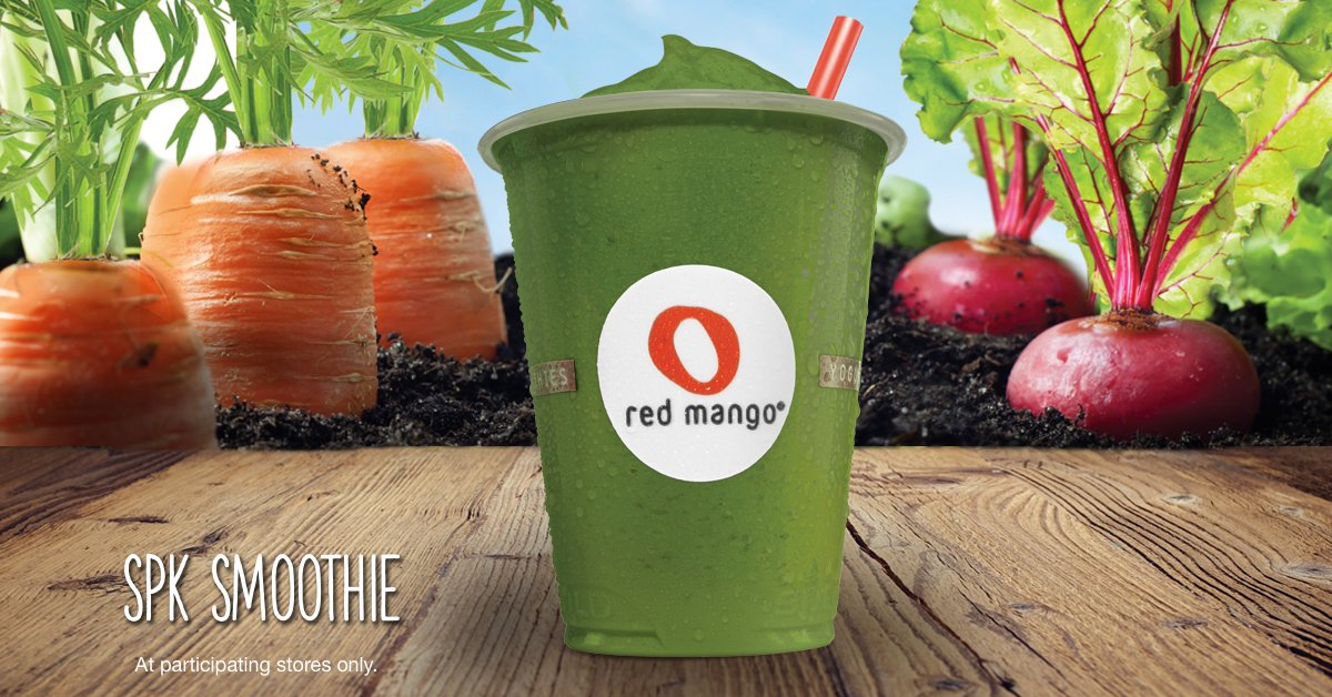 "Red Mango on Twitter: ""Our SPK Smoothie is packed with nutritious spinach  and pineapple, for only 150 calories in a 16oz smoothie!… """
