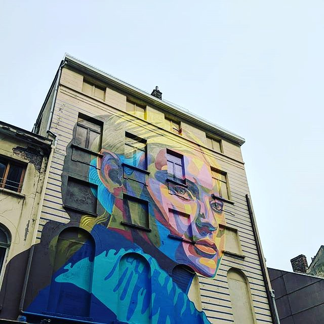 She had an immense curiosity about life, and was constantly staring and wondering. - Henry James, - The Portrait of a Lady  /#Ostende #Belgique  festival 2018 The Crystal Ship @thcrstlshp  #Oostende #IgOostende #StreetArt #CrystalShip #wallart<br>http://pic.twitter.com/B6DIqVPS03