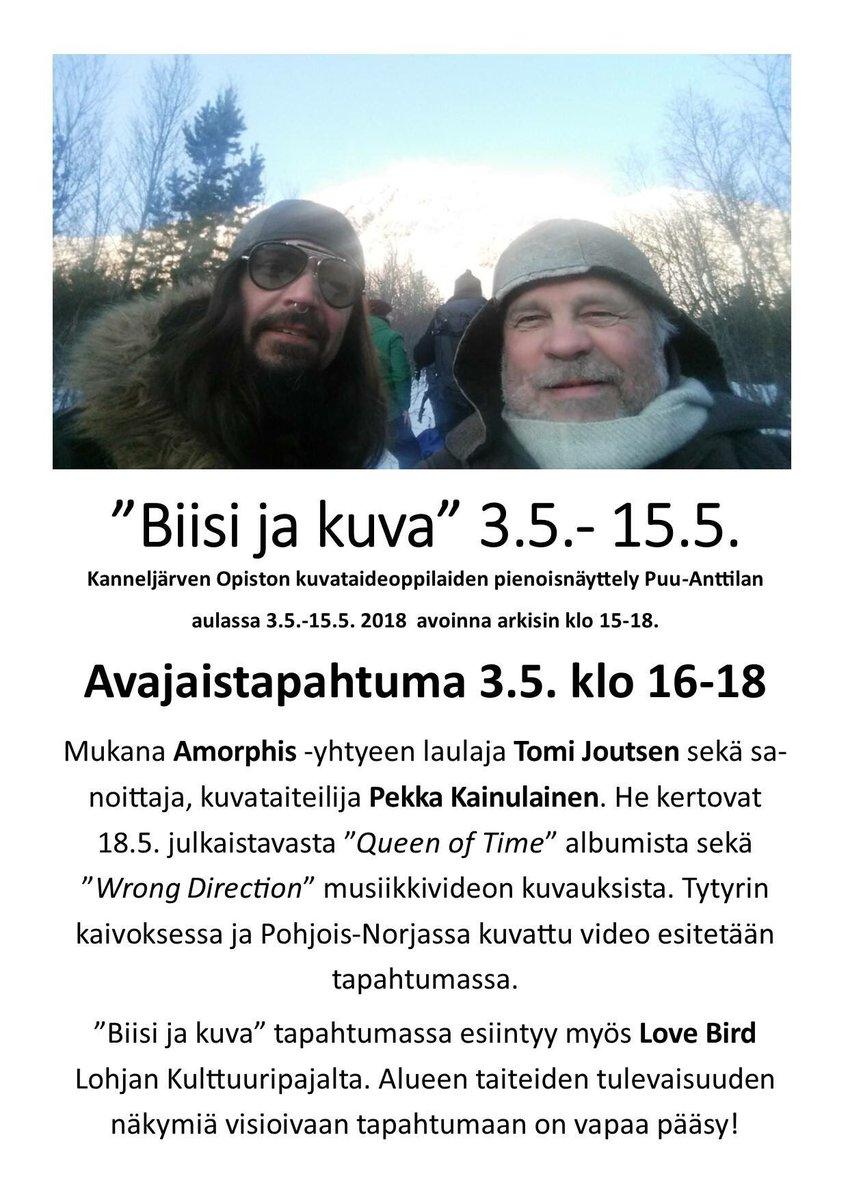 Ensi viikolla 👉 #PekkaKainulainen #TomiJoutsen #amorphis #queenoftime #lohja https://t.co/MTYt8R1uRG