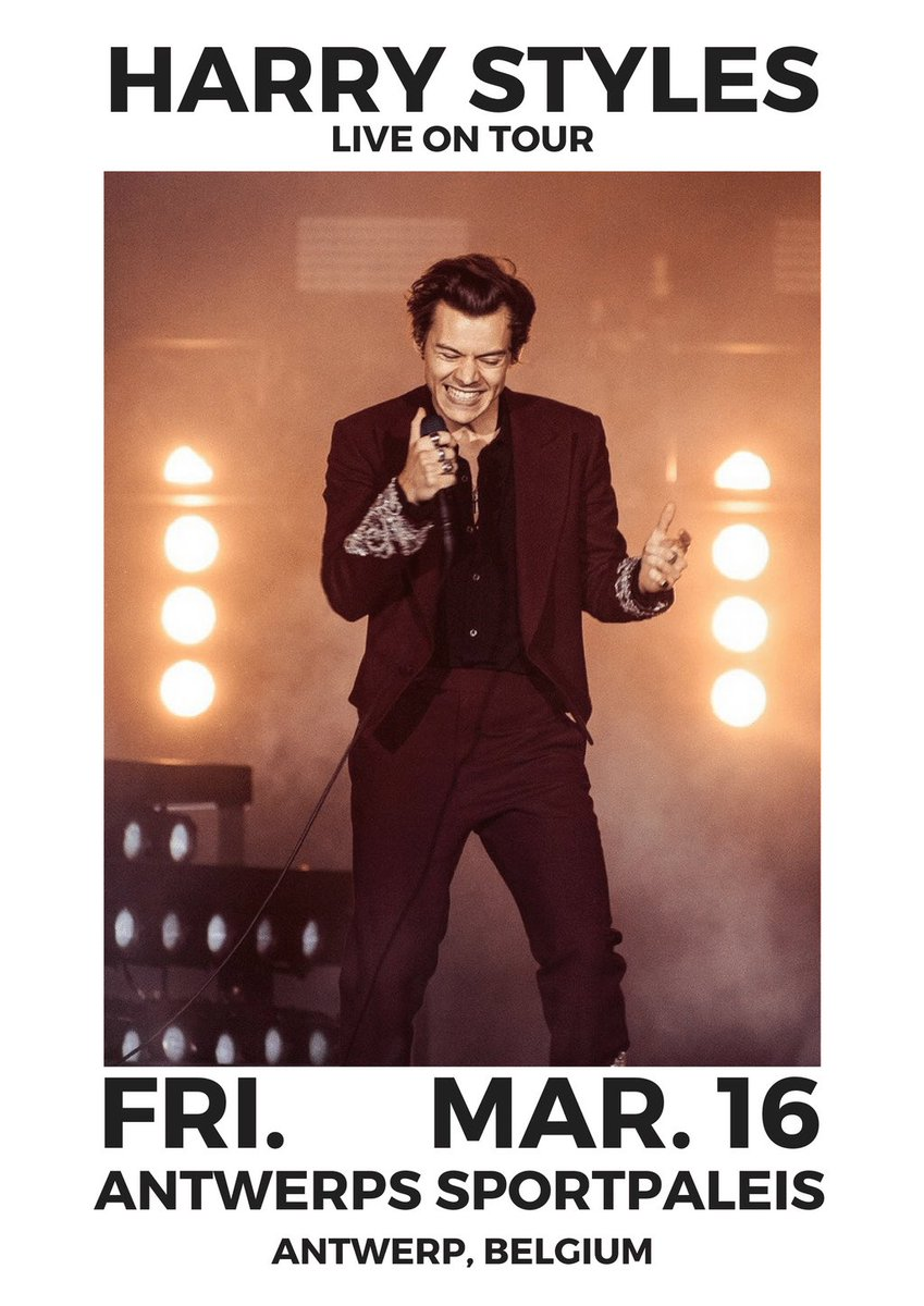 """healy on Twitter: """"Harry Styles Live On Tour Poster Edits 🕺🏻 (please credit me if you post them ..."""