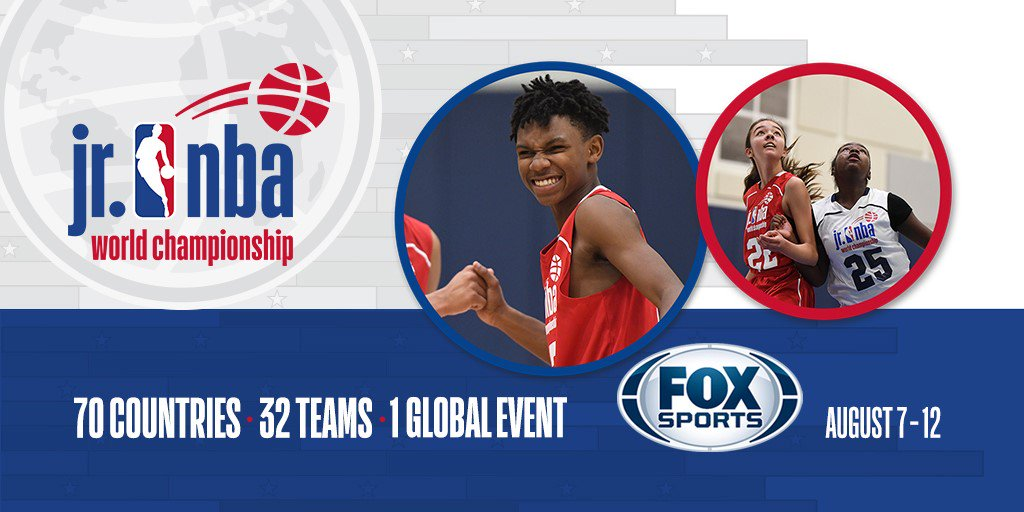.@NBA & @FoxSports announce multi-year relationship to broadcast #JrNBAWorldChampionship!  Learn more at jrnba.com/worldchampions…!