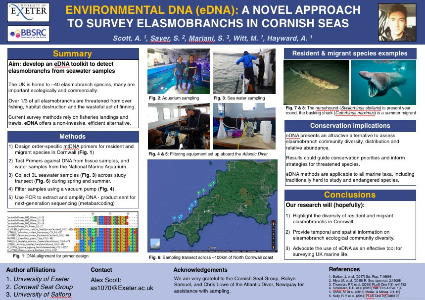 Looking forward to the @PlymouthMarine &amp; @UniofExeter #Research day tomorrow. Lots of interesting talks and we&#39;ll be presenting a poster of our #eDNA project :) @zanderhayward<br>http://pic.twitter.com/WwzNl76Jwk