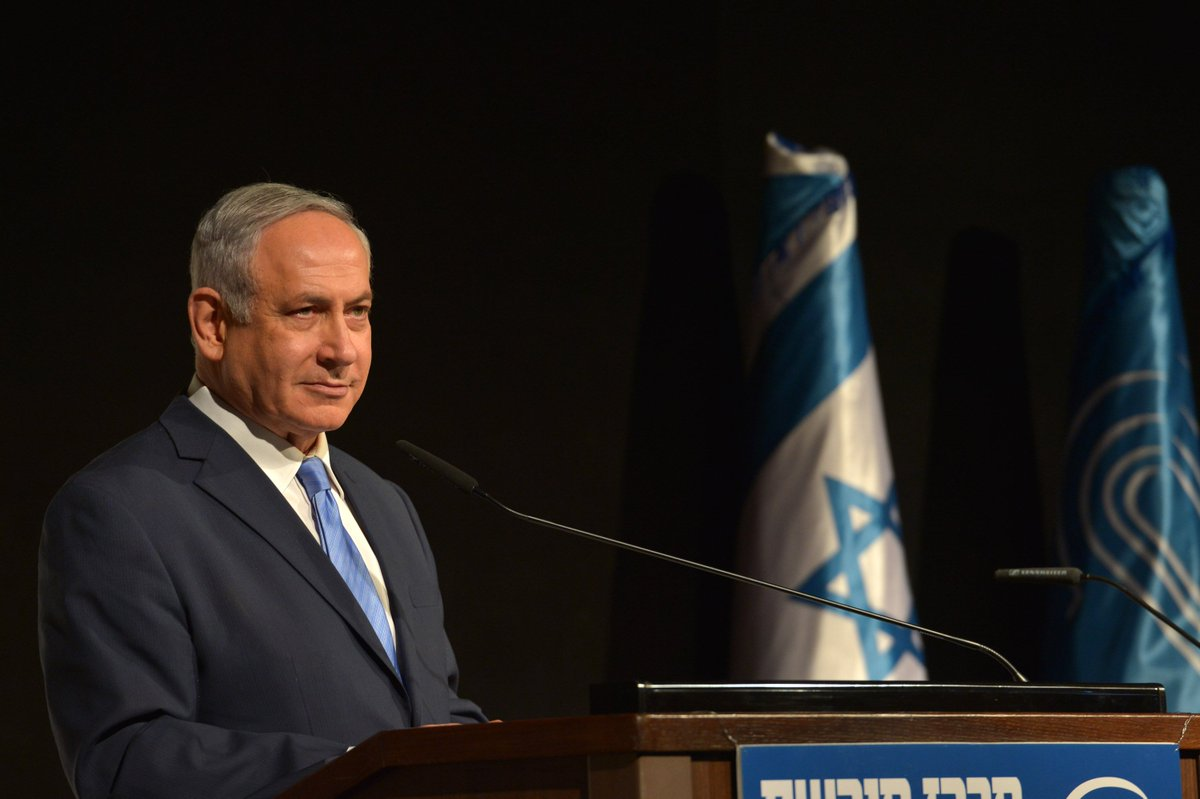 Prime Minister Netanyahu, at the Menachem Begin Heritage Center event marking Israel's 70th anniversary, hosting Israeli and foreign ambassadors: 'Israel's policy has not changed since Begin. Israel will not allow regimes that seek our annihilation to acquire nuclear weapons.'