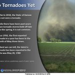 Image for the Tweet beginning: No reported tornadoes in the
