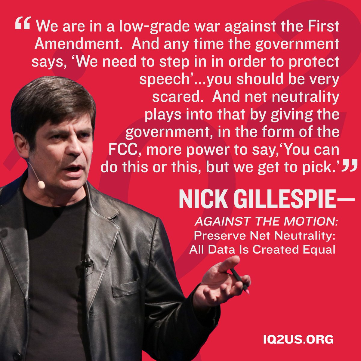 Do you agree w/ @nickgillespie? Watch the full debate 'Preserve #NetNeutrality: All Data Is Created Equal' - https://t.co/yXtWhYXFEy