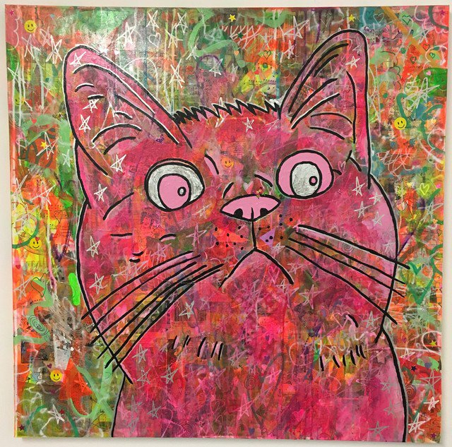 Cosmic Moggy (pink) by Barrie J Davies 2018 #popart #streetart #painting #brightonart #urbanart   https:// barriejdavies.info/collections/pa intings-by-barrie-j-davies/products/cosmic-moggy-pink-by-barrie-j-davies-2018 &nbsp; … <br>http://pic.twitter.com/gEA4YGgiZ7