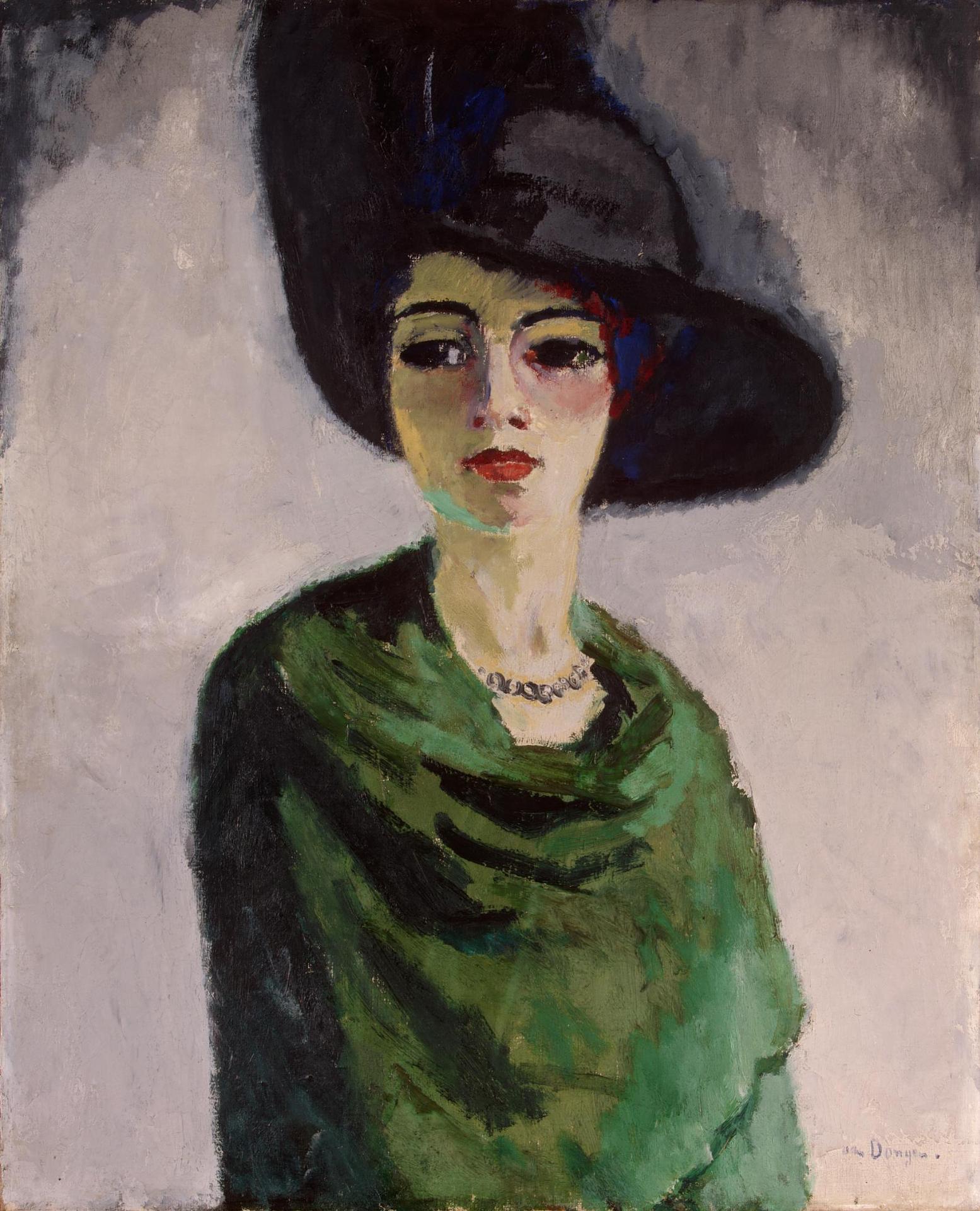 Картинки по запросу ван донген к дама в черной шляпе