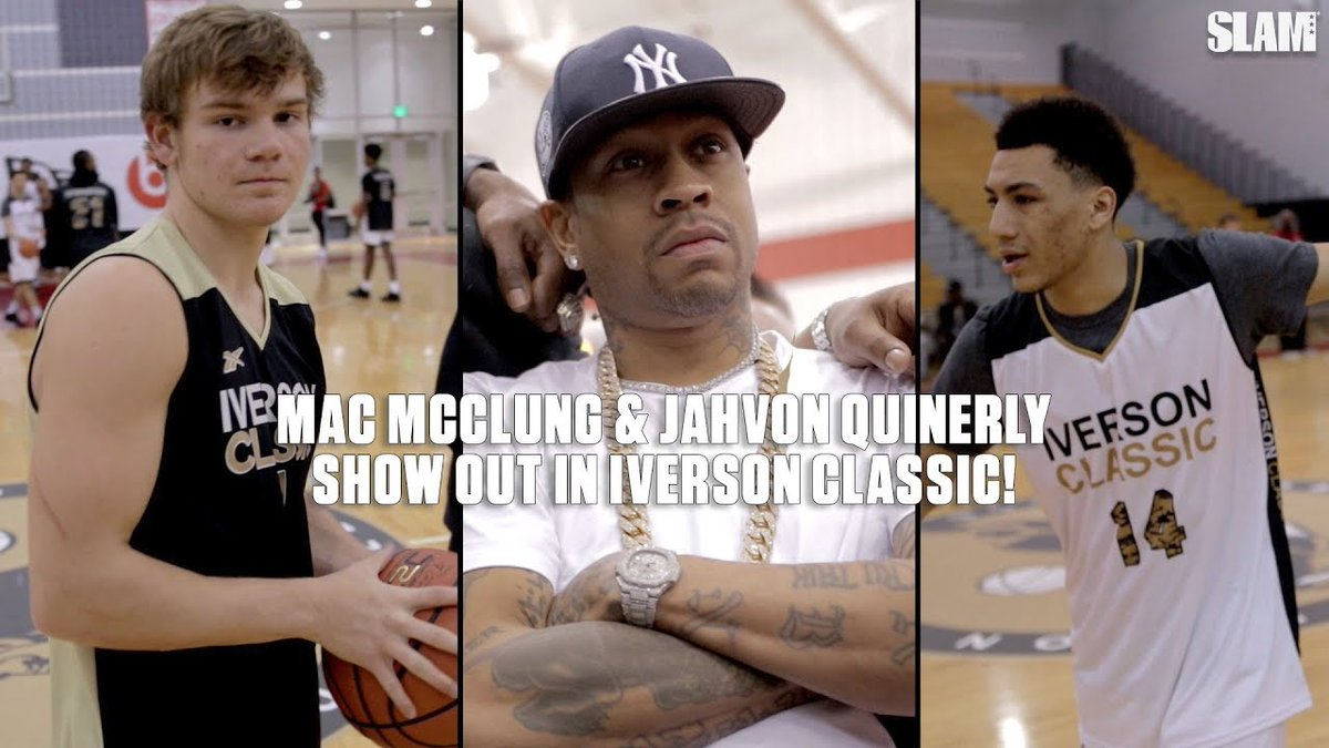 Mac McClung and Jahvon Quinerly went head-to-head in the Iverson Classic 🔥 slam.ly/mac-jahvon