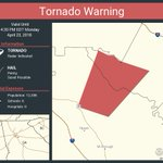 Image for the Tweet beginning: Tornado Warning including Henry County,