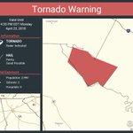 Image for the Tweet beginning: Tornado Warning continues for Rockdale