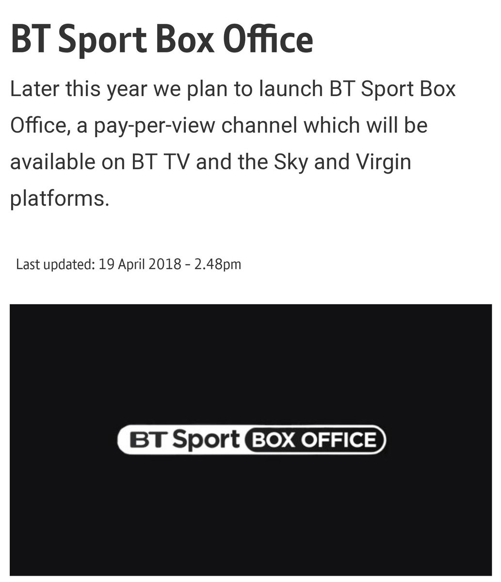 BT Sport Box Office to be launched later this year.  sport.bt.com/sport/bt-sport…
