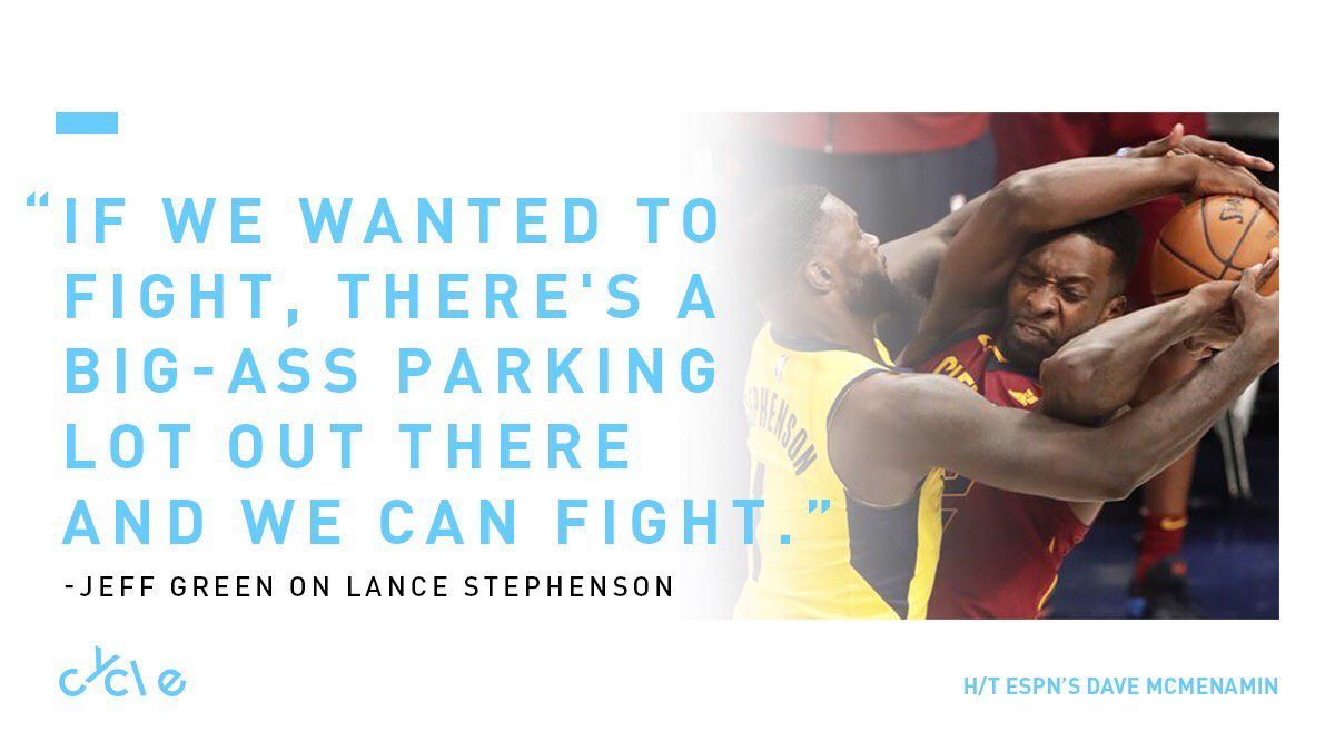 Cavs are fed up with Lance. 👊