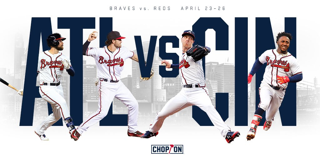 A four game series in Cincinnati starts tonight at 6:40 ET! #ChopOn