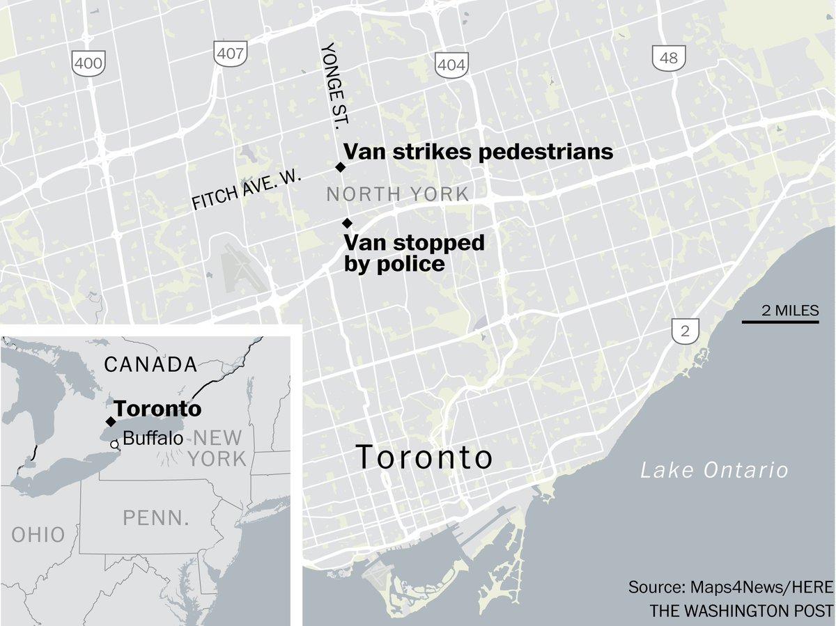 Van plows into pedestrians in Toronto, injuring several https://t.co/pKLgpjULeG