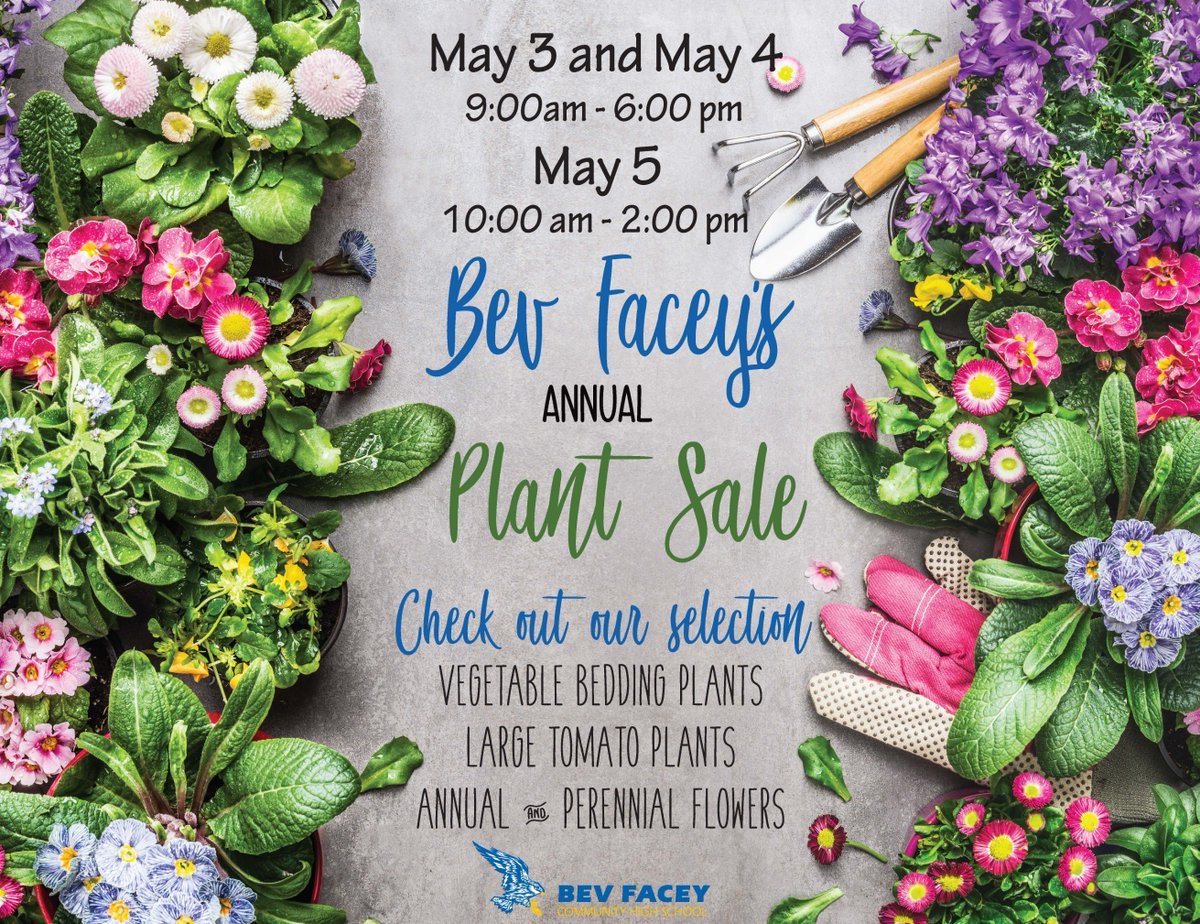 Bev Facey Community High On Twitter The Annual Bev Facey Plant