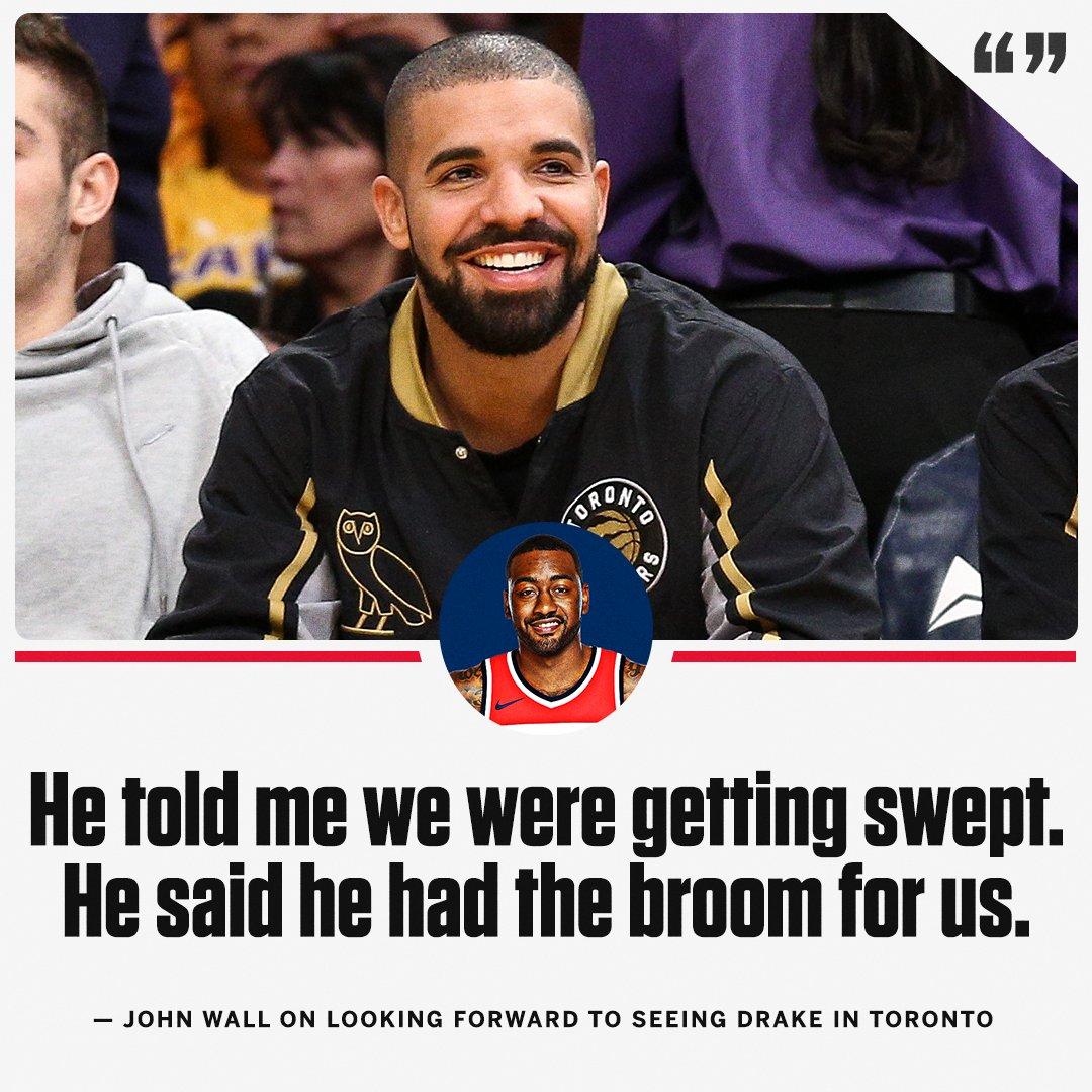 John Wall isn't here for Drake's trash talk 👀