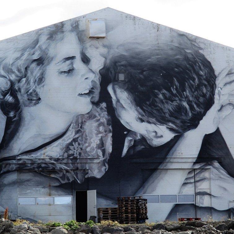 "...""Love is the mystery of water and a star..."" ~ Թɑbℓo nҽɾuᘐɑ ɑɾԵᏊoɾκ • Guido Van Helten, New Mural • Reykjavik, Iceland #lovequotes #streetart #inspiration<br>http://pic.twitter.com/9bfVRjjx1T"