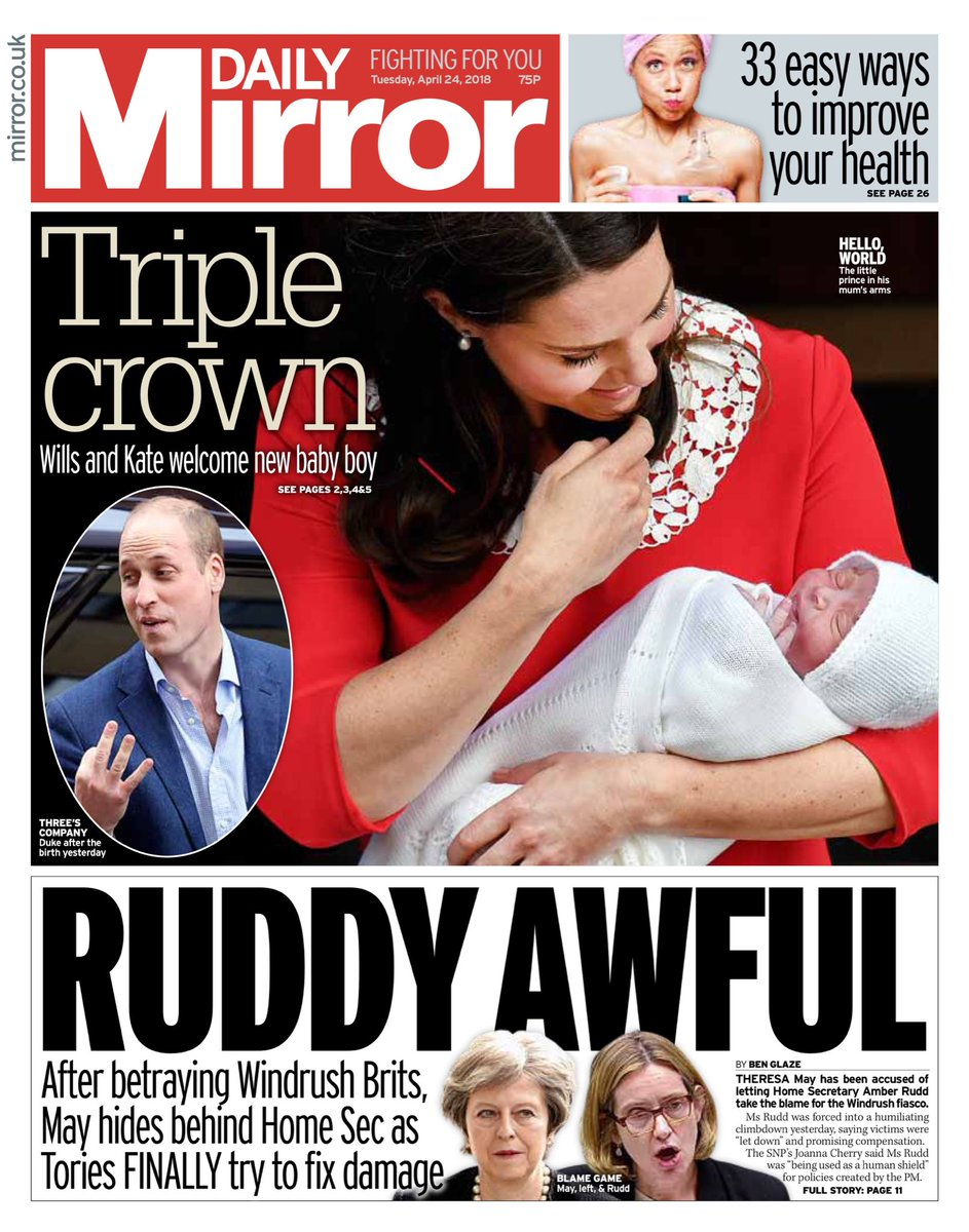Tuesday's Daily Mirror: 'Ruddy Awful'  #bbcpapers #tomorrowspaperstoday  (via @AllieHBNews) https://t.co/G7JVj68NM8