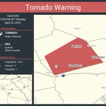 Image for the Tweet beginning: Tornado Warning including Greensboro GA,