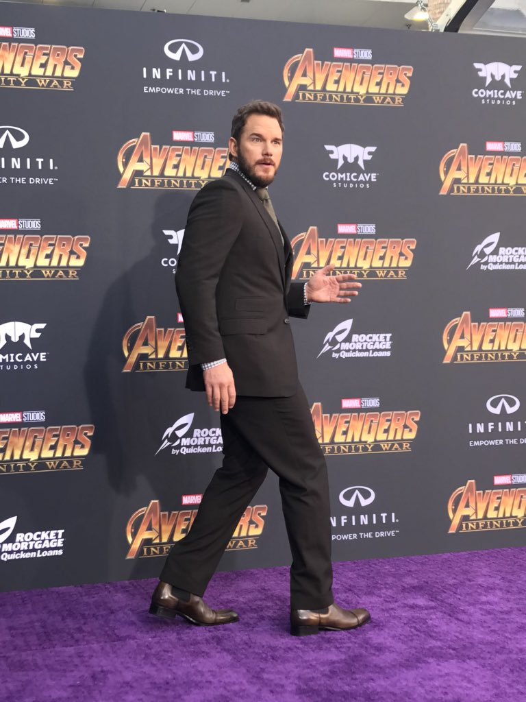 More @Avengers arrive on the red carpet!...