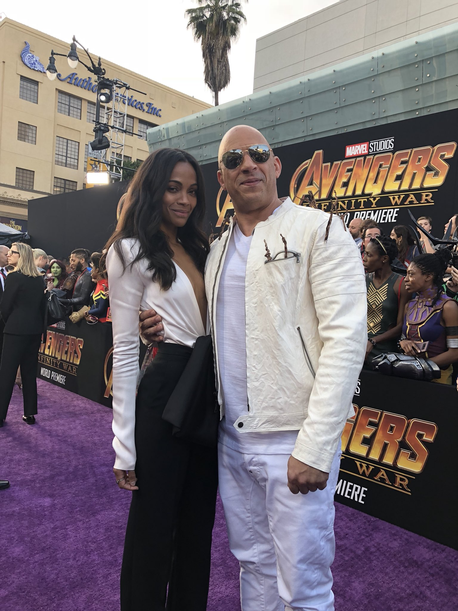 Some of our favorite Guardians. @zoesaldana @vindiesel @prattprattpratt #InfinityWar https://t.co/1SlGLRXxVu