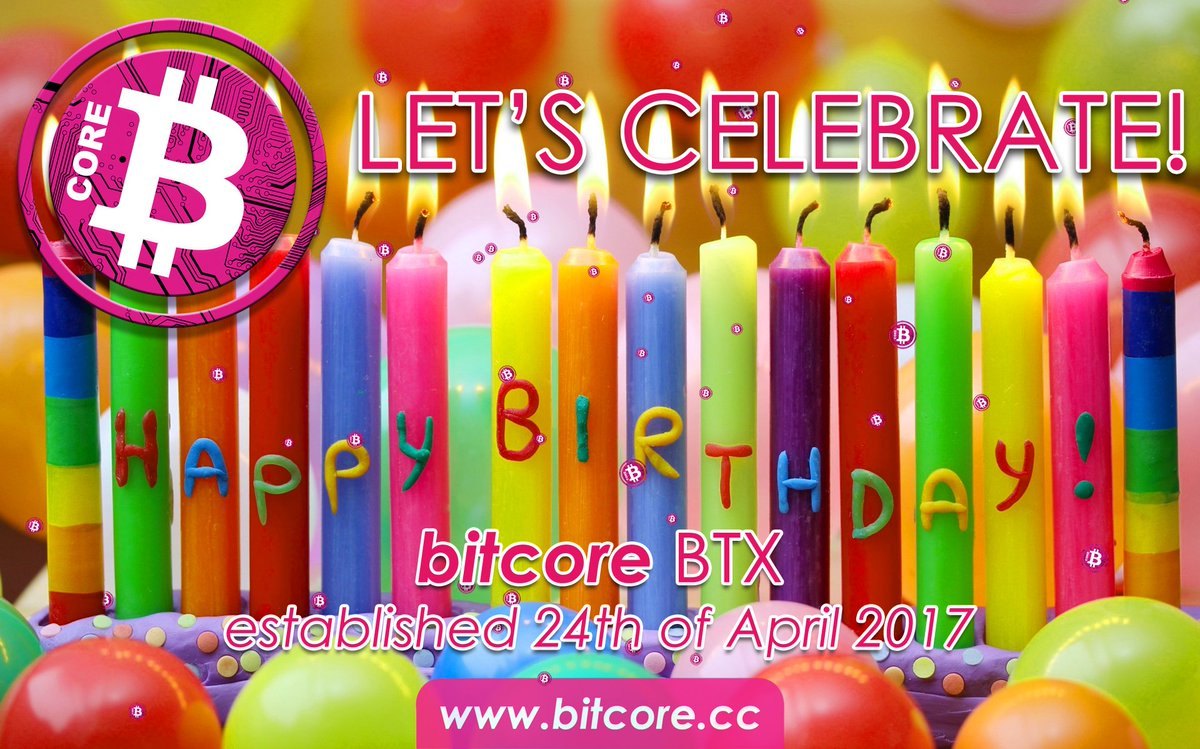Join Us In Our Celebration Of 365 Days BTX Retweet This Post To Win 1 5 Physical Bitcore Chips Loaded With Real Birthday Blockchain Crypto