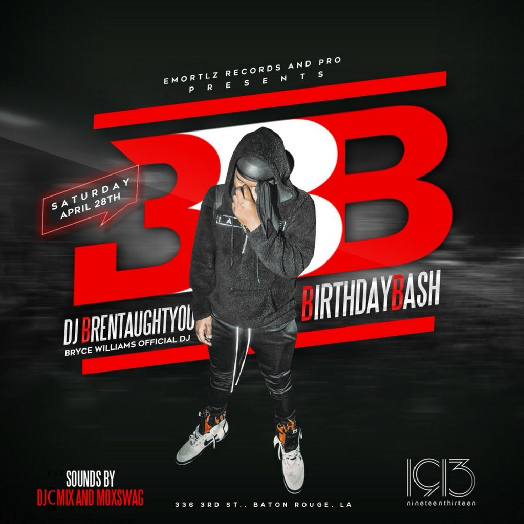 This Saturday, April 28th @ 1913  come get lit with a #PRO  as we launch @DJBrenTaughtYou outta here for his  #DJBrenTaughtYouBirthdayBash w/ @DjCmix_ x @MOxSWAG   Get tickets @ the link below    http:// Brenbdaybash.eventbrite.com  &nbsp;  <br>http://pic.twitter.com/Lr2od1ZJGf